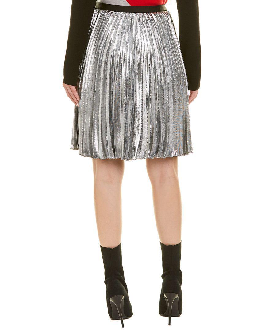 362bd6a12 Diane Von Furstenberg Heavyn Metallic Pleated Midi Skirt - Image ...