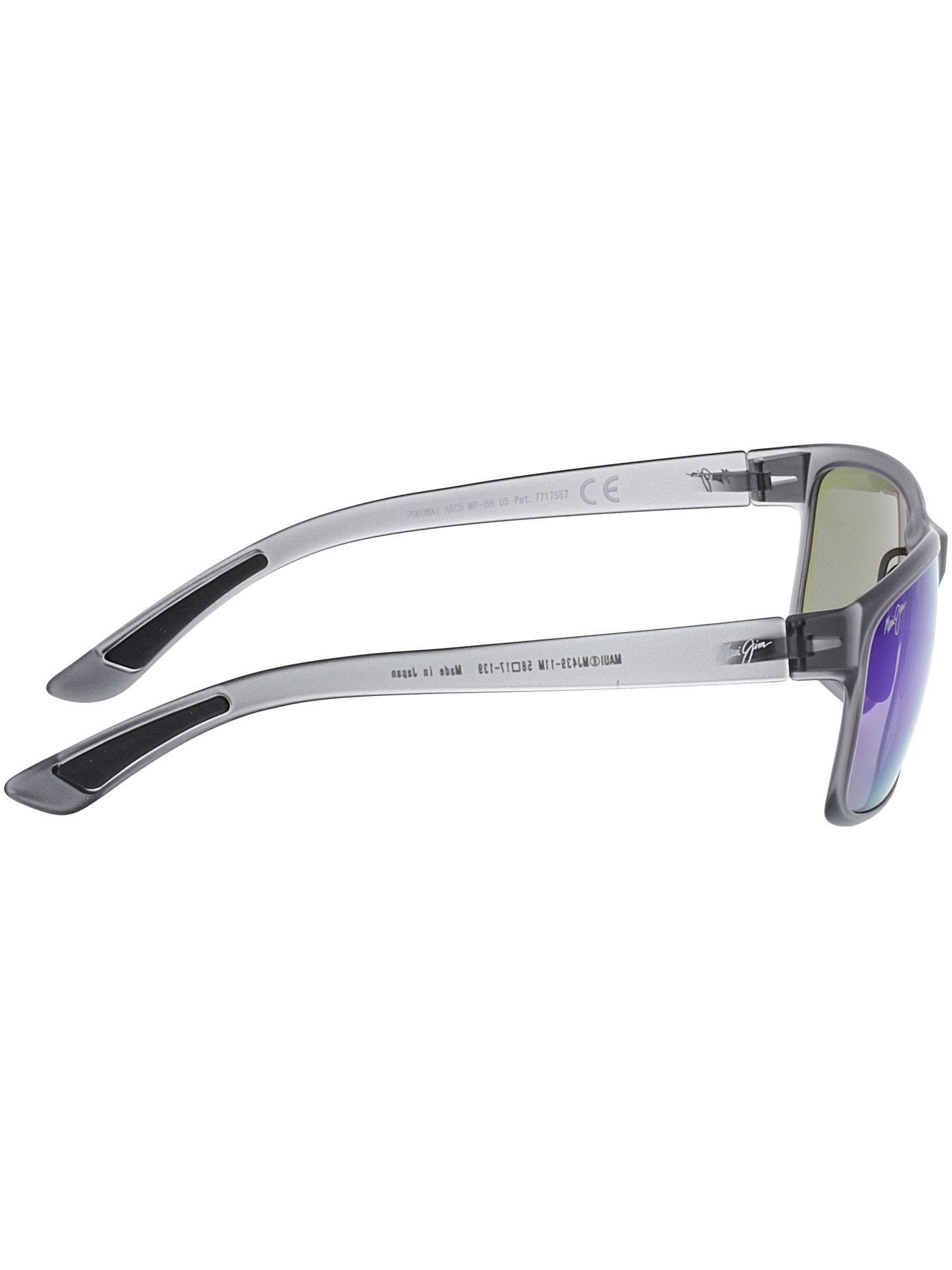 2b56beb0f976e Maui Jim - Gray Men s Polarized Pokowai Arch B439-11m Grey Rectangle  Sunglasses for Men. View fullscreen