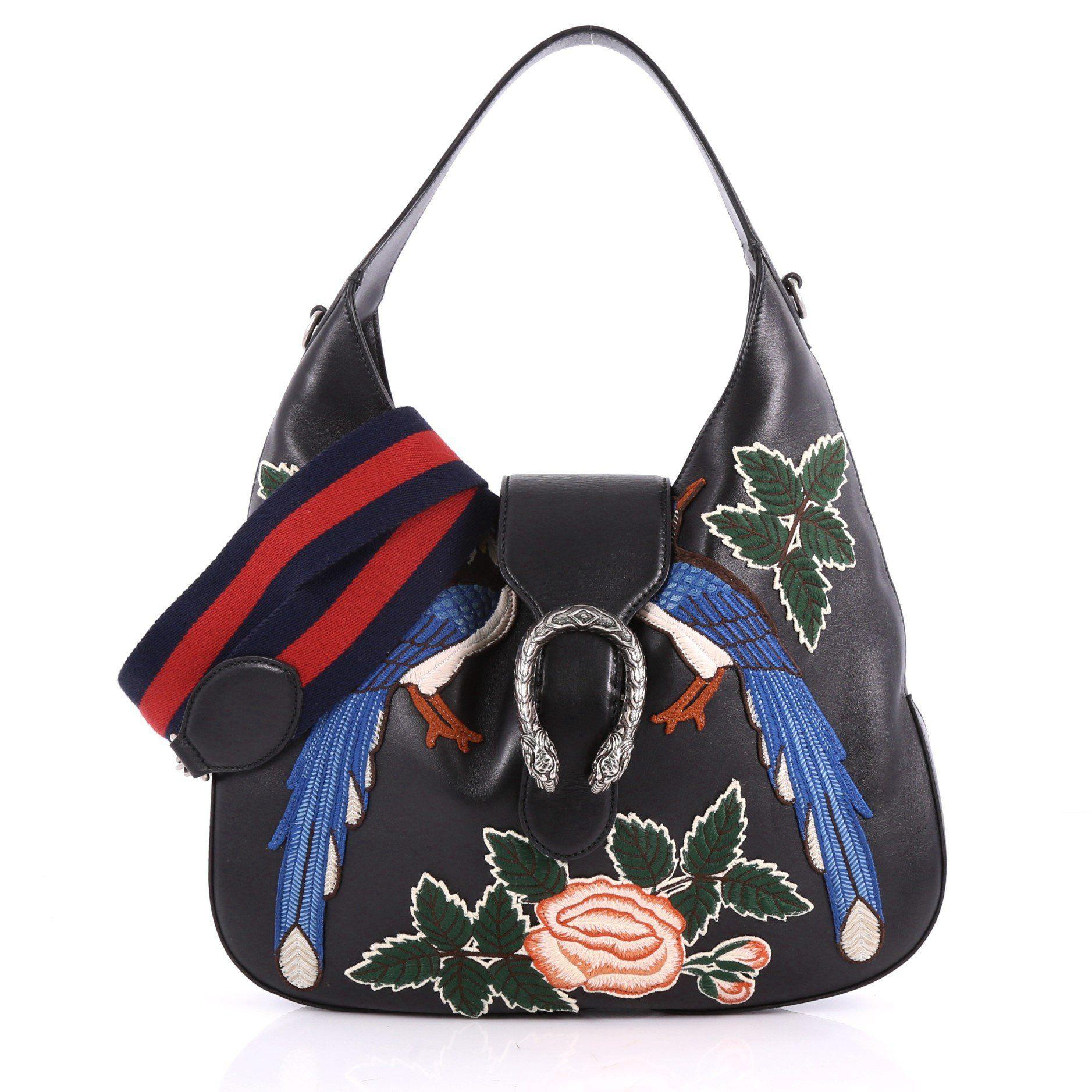 44ccb5bdfacc Gucci - Multicolor Dionysus Hobo Embroidered Leather Small - Lyst. View  fullscreen