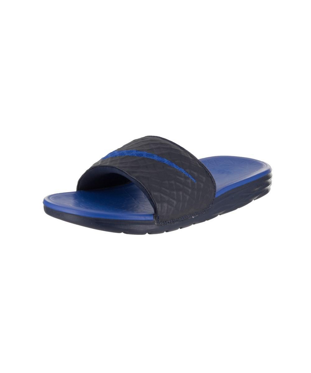 6d37eb77ac4f6 Lyst - Nike Men s Benassi Solarsoft Sandal in Blue for Men - Save 5%