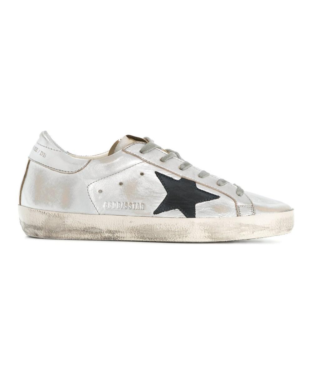 ead92c34c095 Lyst - Golden Goose Deluxe Brand Women s Silver Leather Sneakers in ...