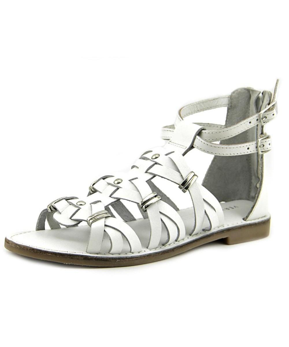 1a6bea6ab13af Very Volatile - White Womens Roman Leather Open Toe Casual Gladiator  Sandals - Lyst. View fullscreen