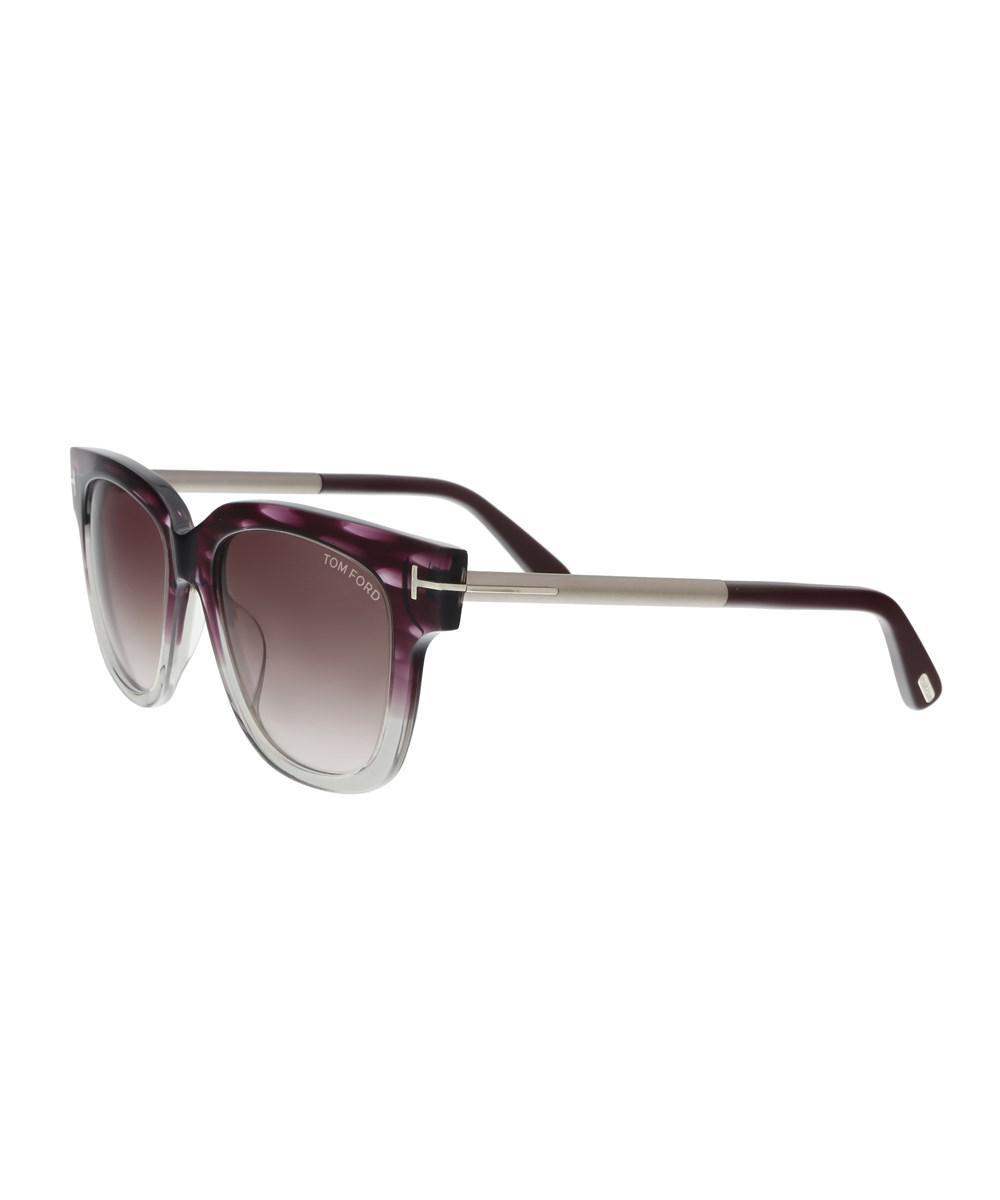 0681b49febe Tom Ford - Ft0436 5383t Tracy Purple silver Square Sunglasses - Lyst. View  fullscreen