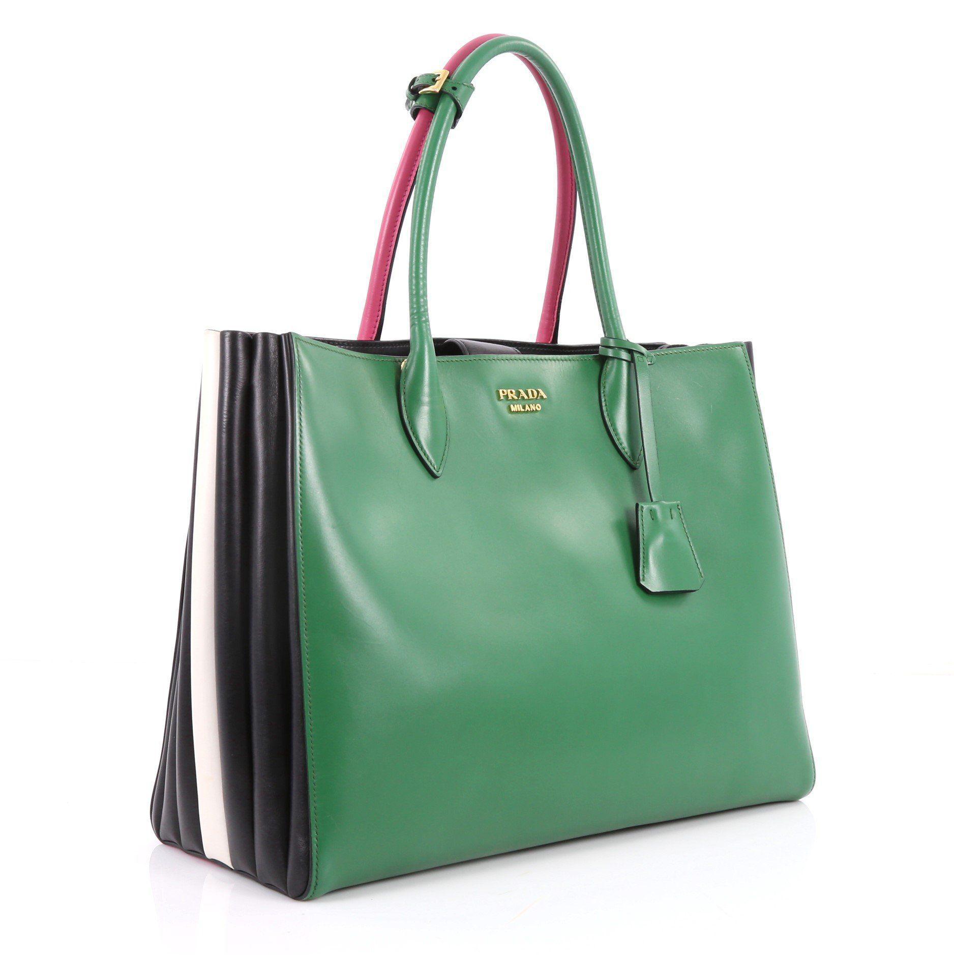 a088e4ead667 Prada - Green Pre Owned Soft Bibliotheque Handbag City Calfskin Large -  Lyst. View fullscreen