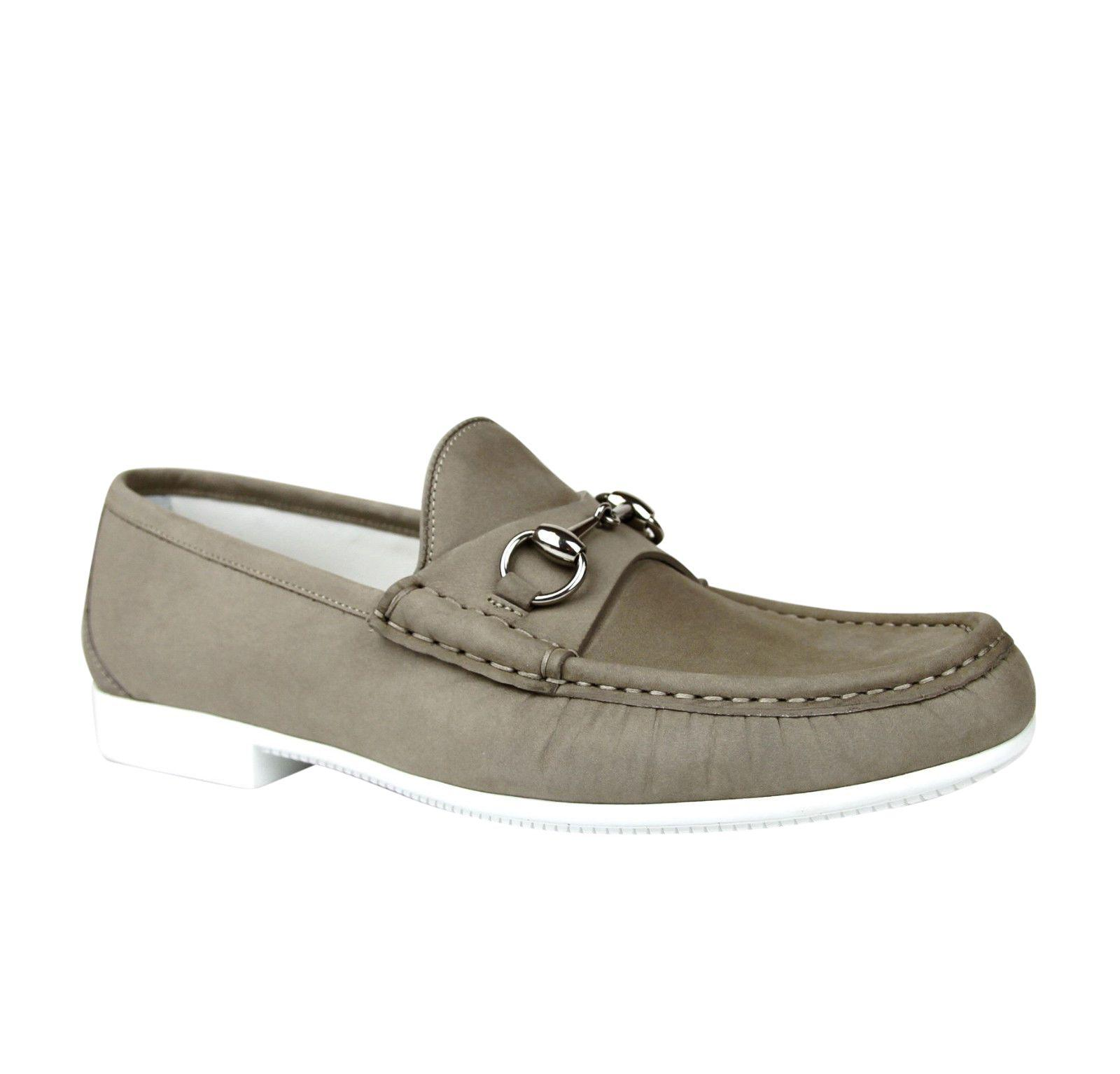 8cff98977f961 Lyst - Gucci Moccasin Suede Horsebit Loafer 337060 Bho00 in Natural ...