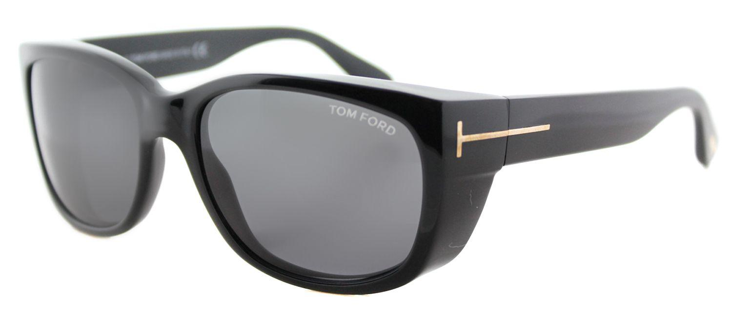 7a89f27e35ae Tom Ford - Carson Tf 441 01a Black Rectangle Sunglasses - Lyst. View  fullscreen
