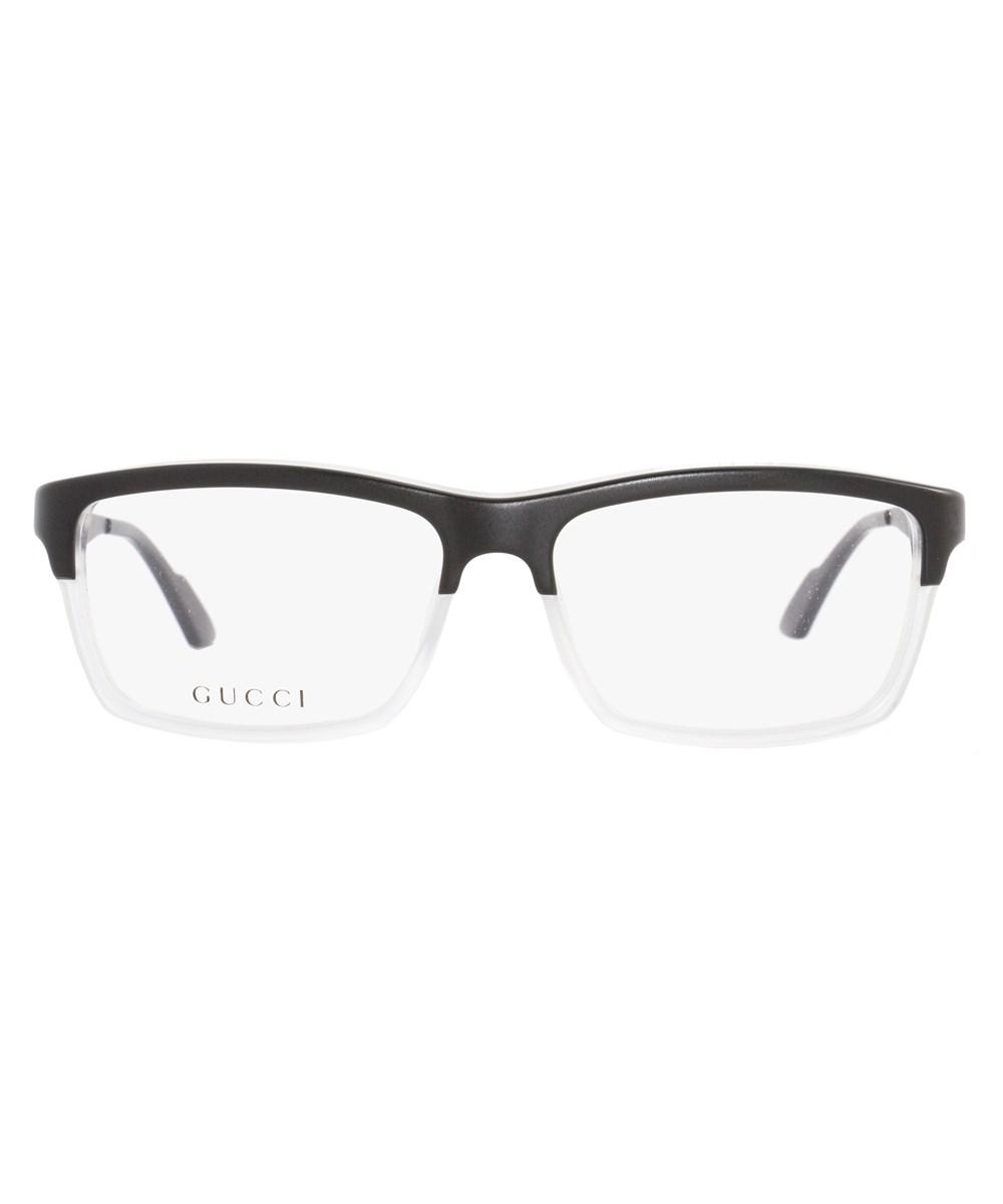 6fbfdc3d6aa1 Lyst - Gucci Rectangular Eyeglasses Gg3517 Ww2 Size  53mm Black ...