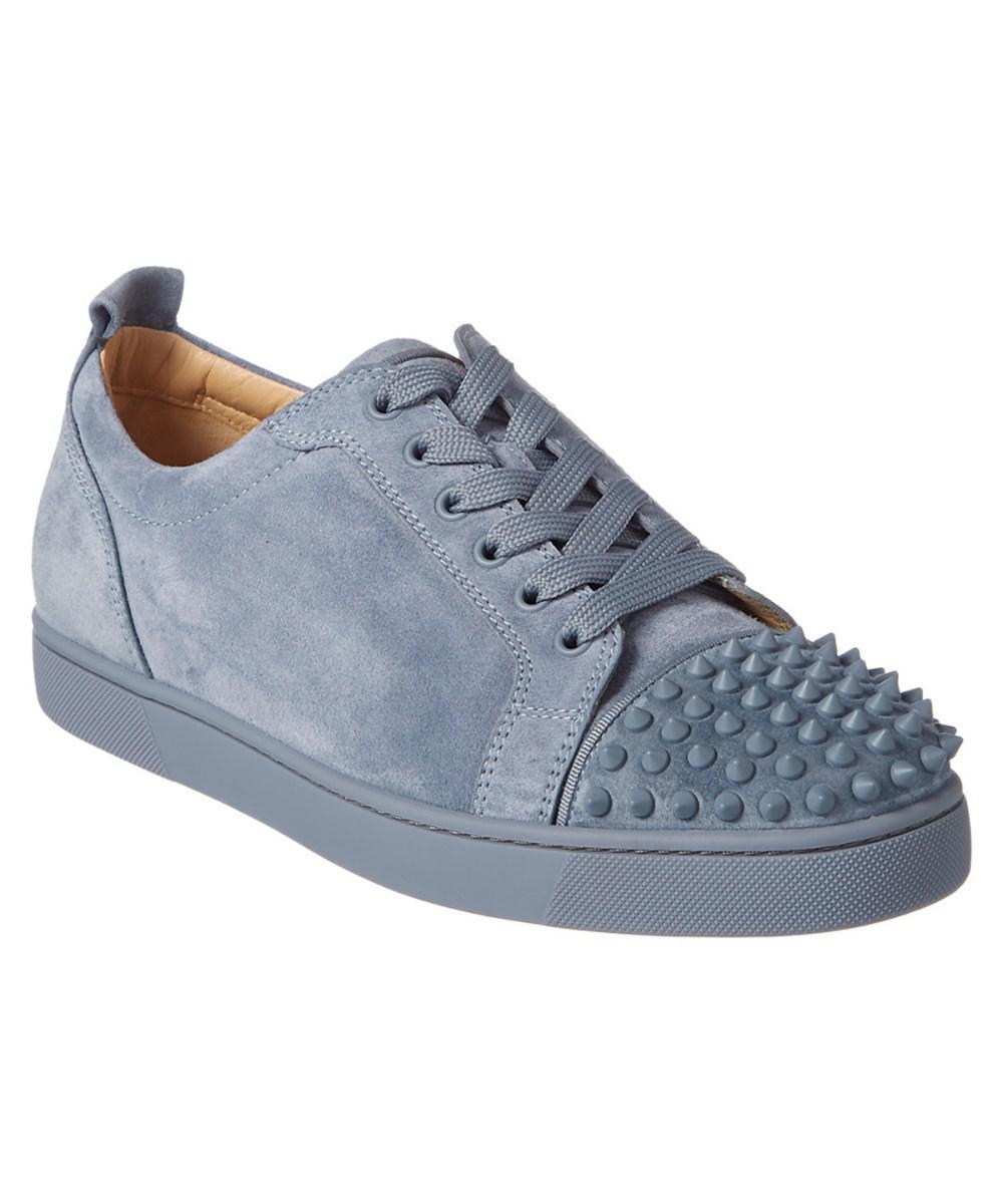 b554529b5ec Christian Louboutin Louis Junior Spikes Suede Sneaker in Blue for ...