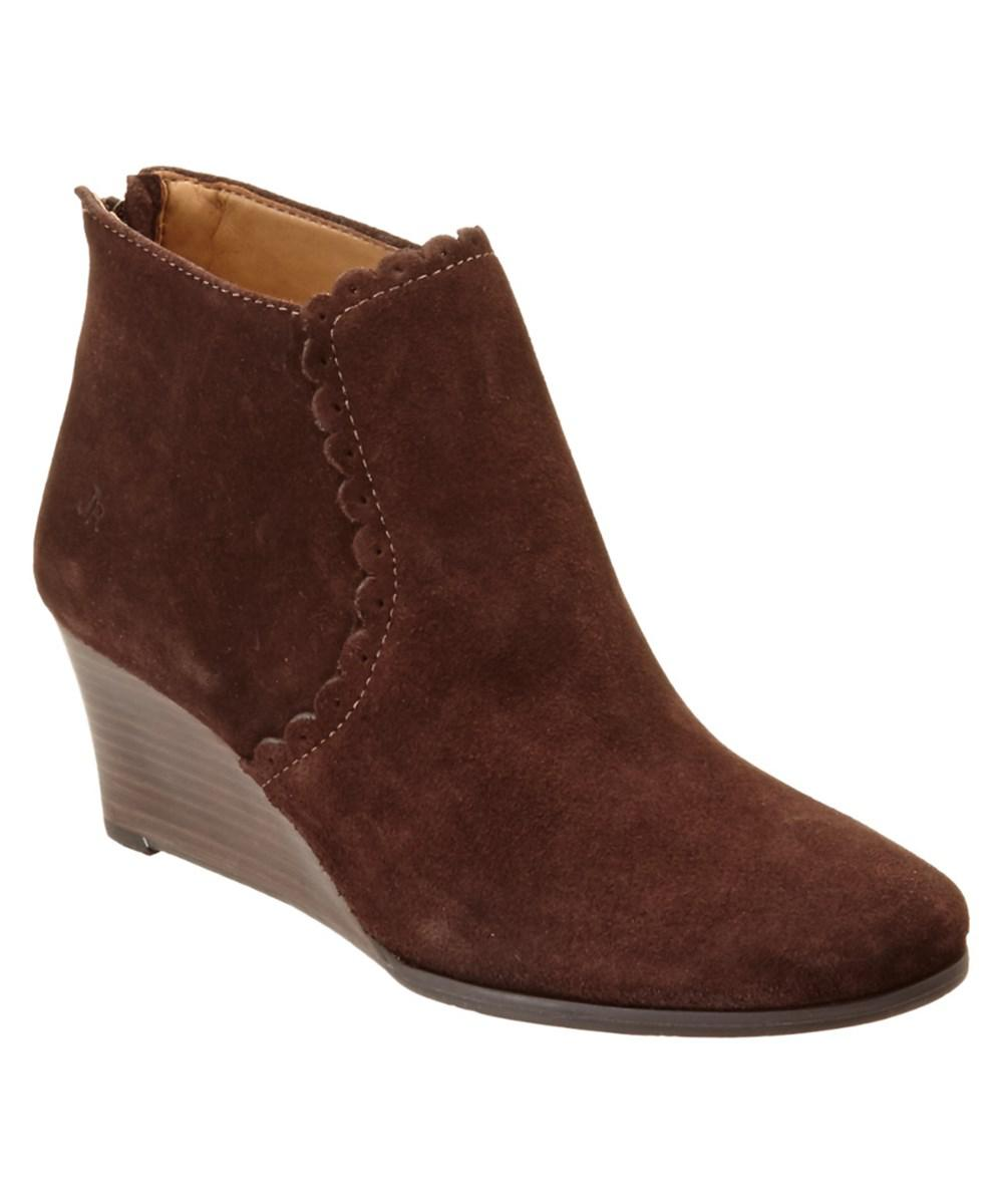 a56e610ea306 Lyst - Jack Rogers Emery Suede Bootie in Brown
