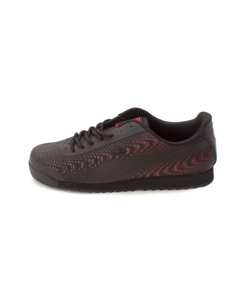 Lyst - Puma Womens Roma Fabric Low Top Lace Up Running Sneaker in Black 214b06e59