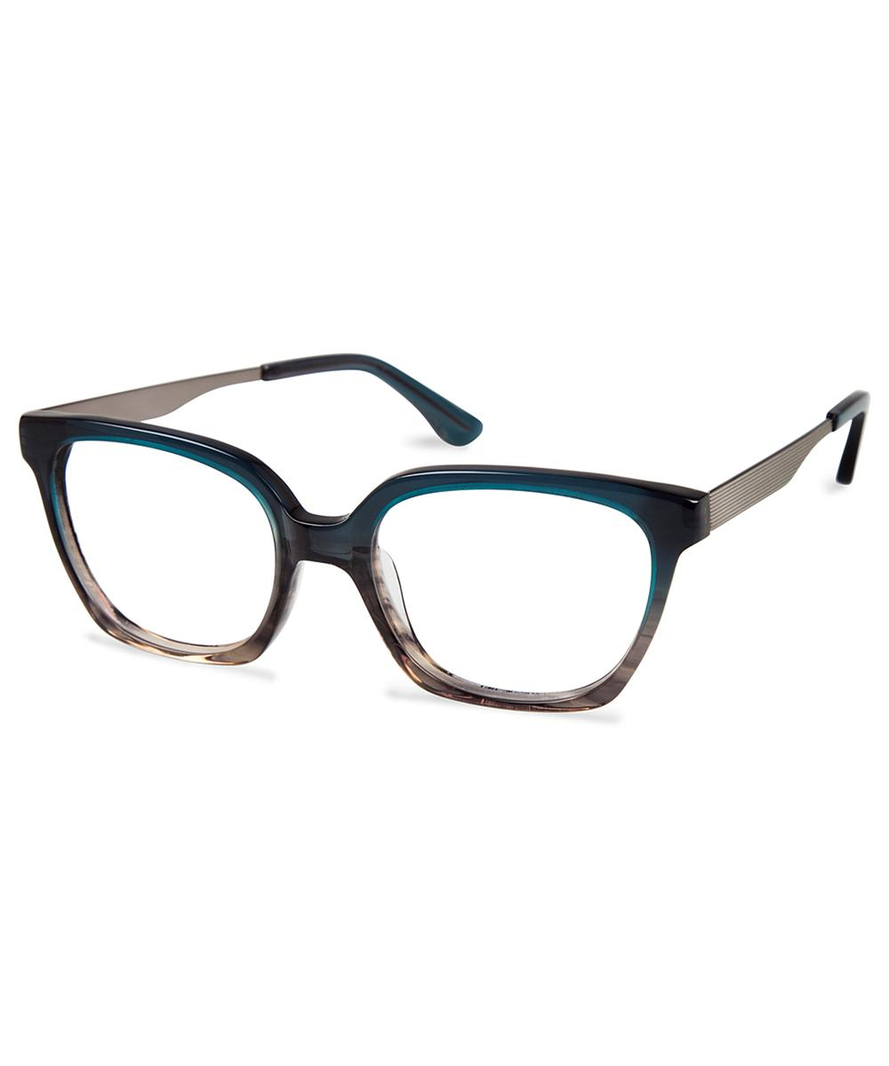 80bf975475 Lyst - Cynthia Rowley Teal Fade Round Metal Eyeglasses in Blue for Men