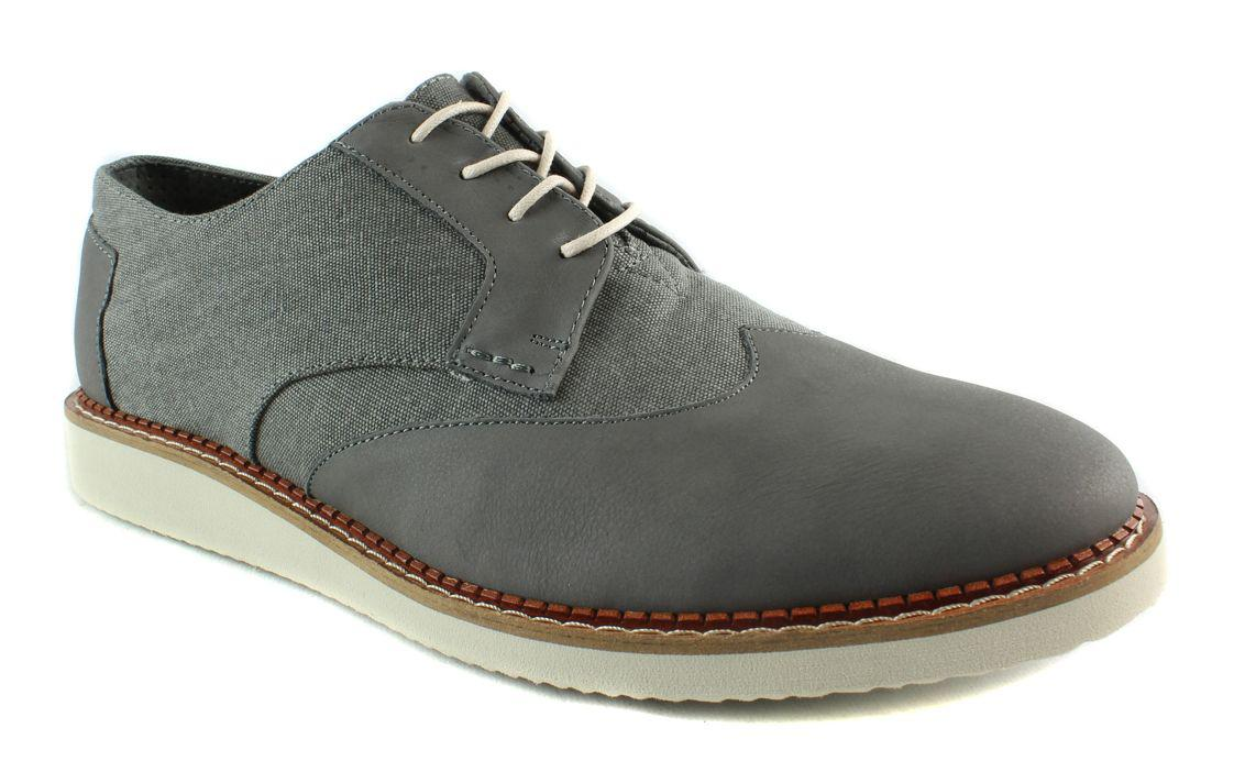 65d68a83b69 Lyst - Toms Mens Brogues Darkgreyleather washedcanvas Oxford Dress ...