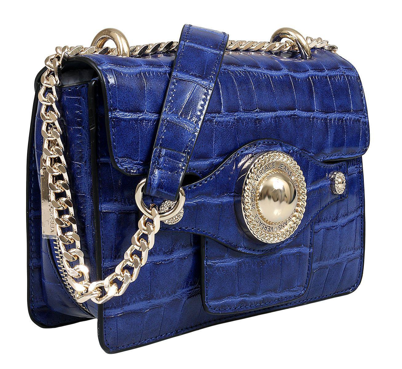 047bba139207 Lyst - Versace Ee1vsbbo4 E240 Prussian Blue Shoulder Bag in Blue