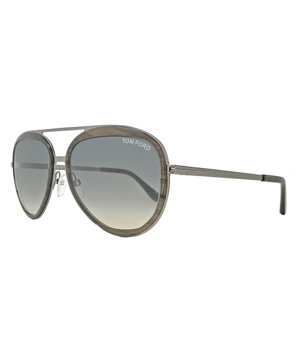 beefdf5c4a7 Lyst - Tom Ford Oval Sunglasses Tf468 Andy 50b Transparent Brown ...
