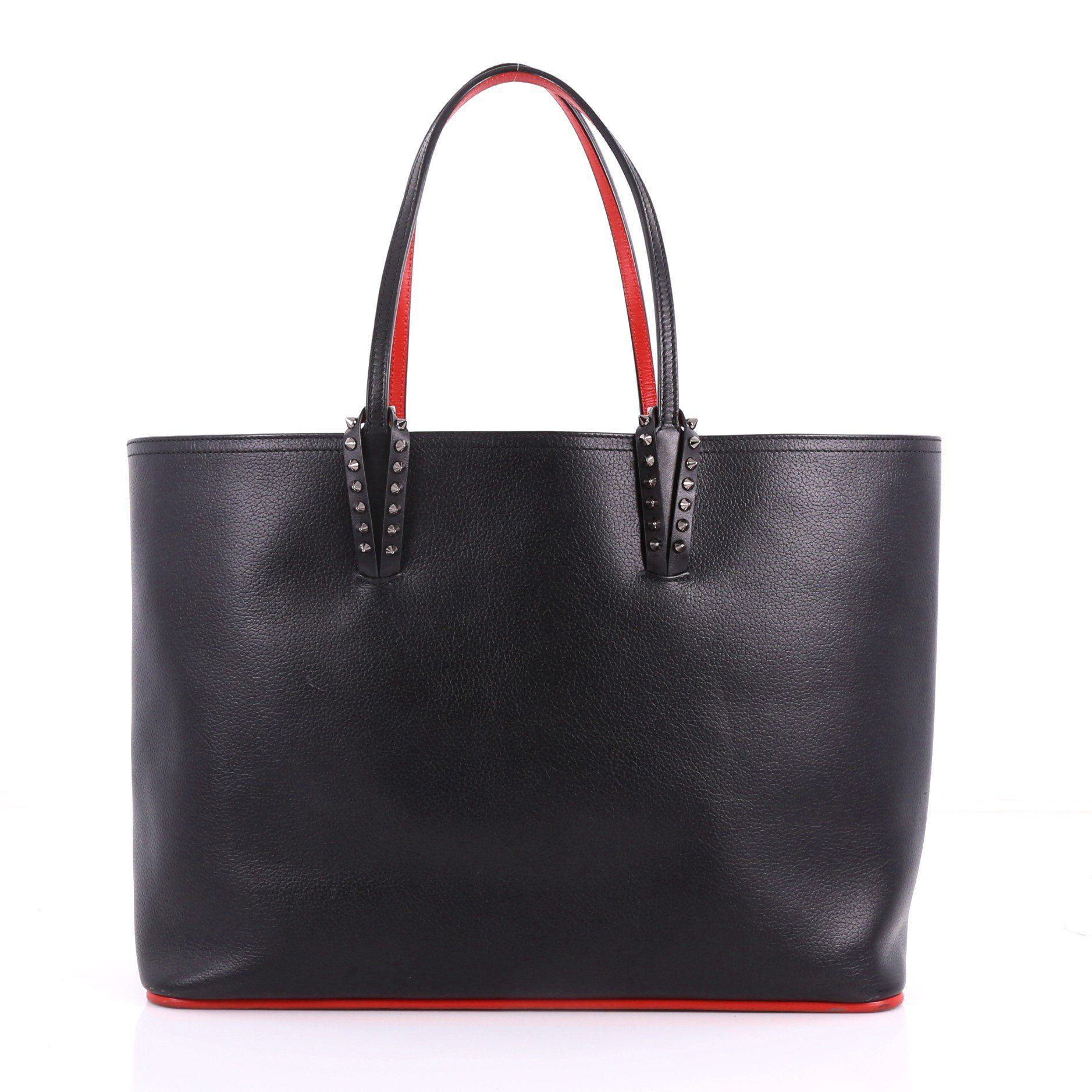 f93a3d1d0d9 Lyst - Christian Louboutin Pre Owned Cabata East West Tote Leather ...