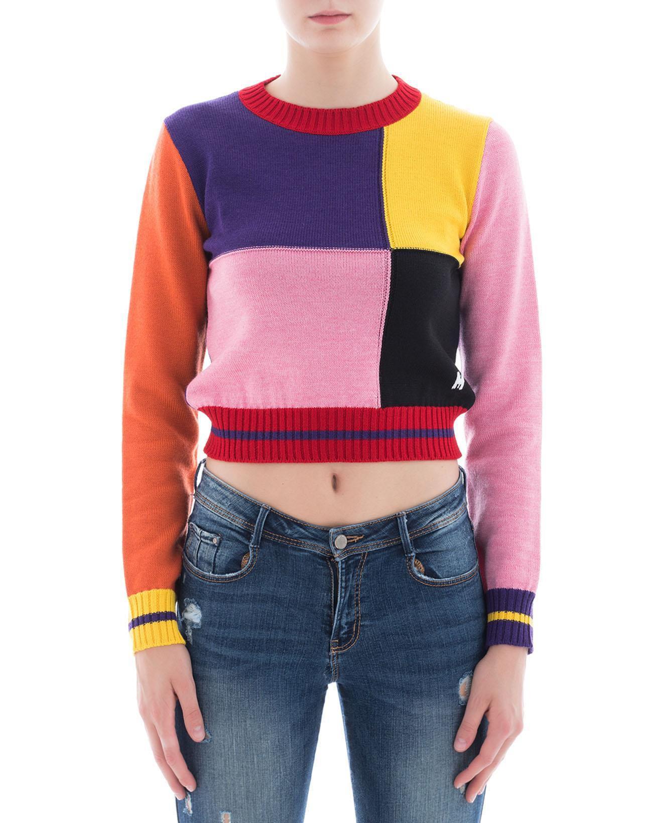 3195178df0 Lyst - Msgm Women s Multicolor Wool Sweatshirt - Save 1.631701631701631%