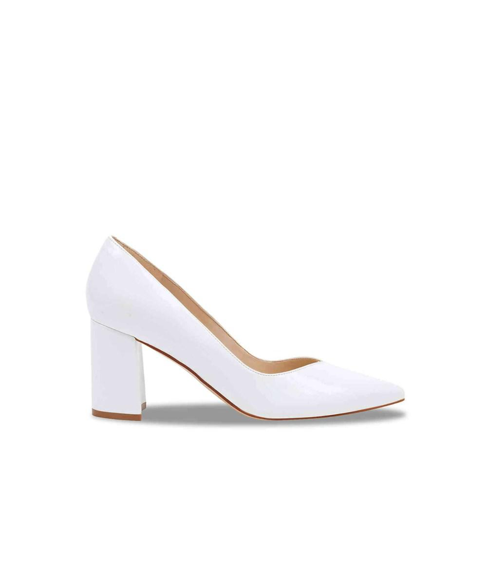5bcf8066403e Lyst - Marc Fisher Womens Caitlin 3 Pointed Toe Classic Pumps in White