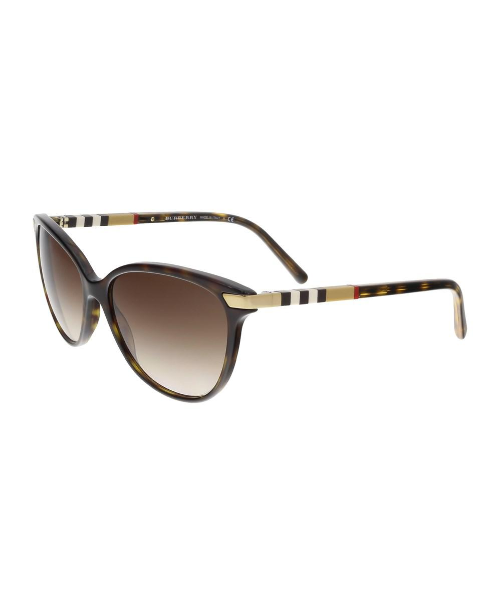 771aac7c090 Lyst - Burberry Be4216 300213 Havana Round Sunglasses in Brown
