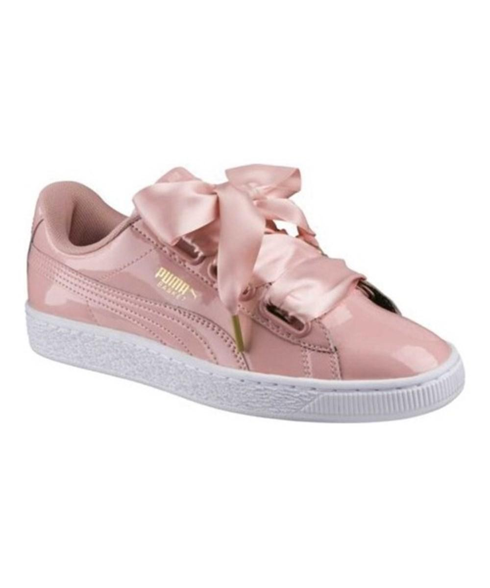 eeb4f88706e Lyst - Puma Women s Basket Heart Patent Sneaker in Natural