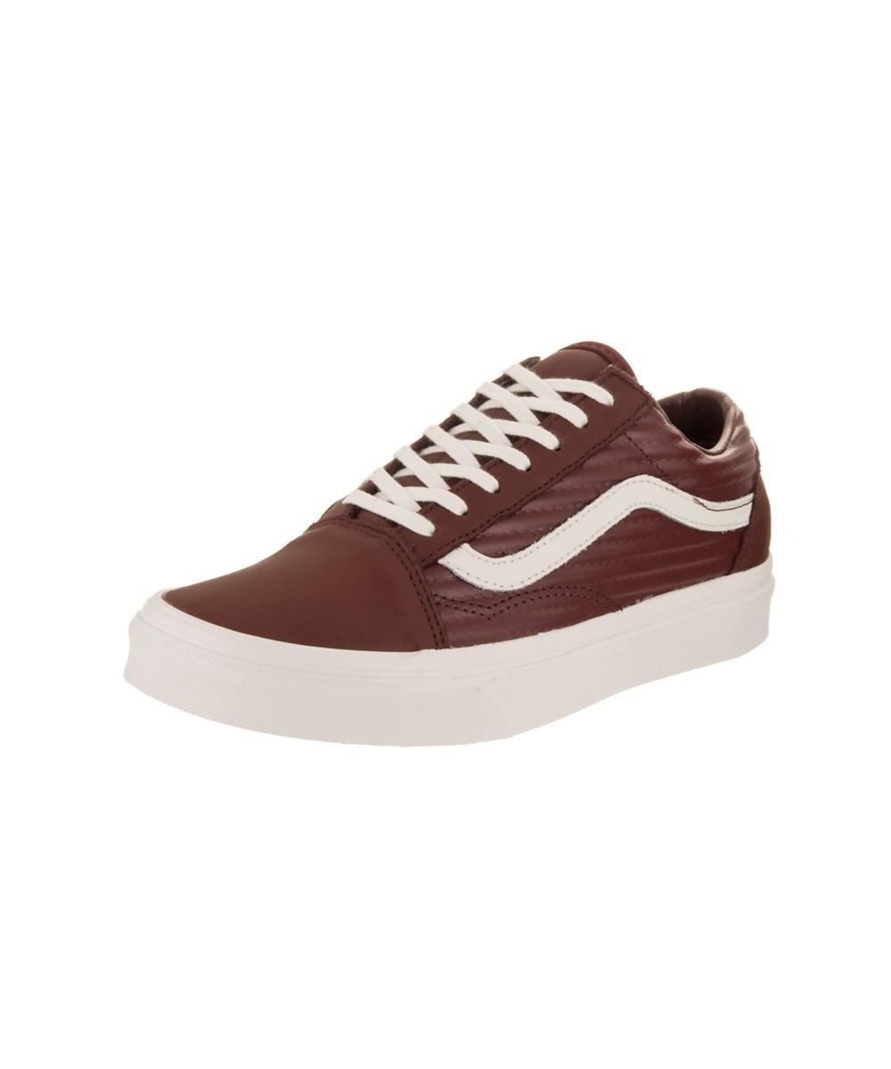b5e1899f2ad0c6 Lyst - Vans Unisex Old Skool (moto Leather) Skate Shoe in Brown for Men