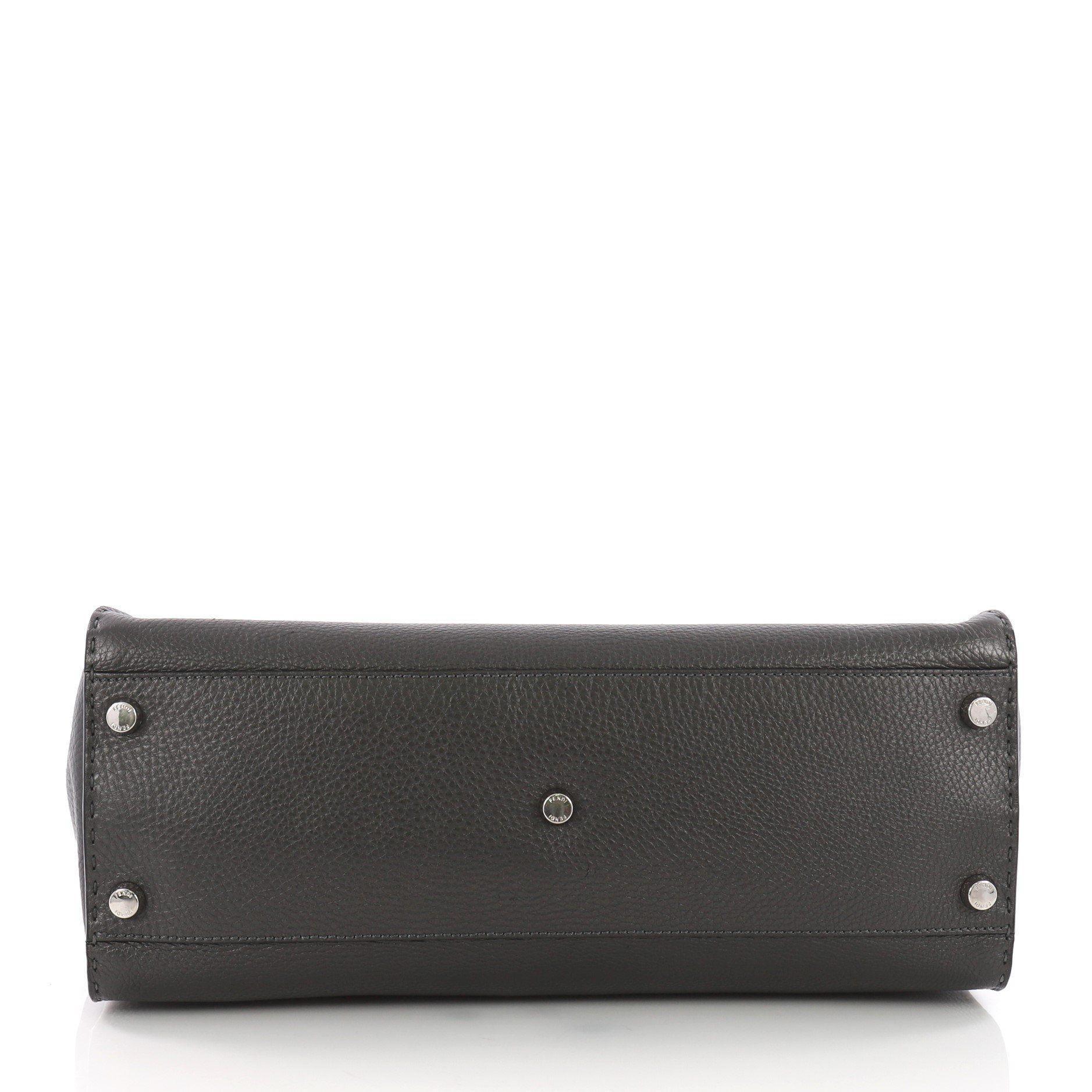 8a1b051730eb Fendi - Black Pre Owned Selleria Peekaboo Monster Handbag Leather Xl -  Lyst. View fullscreen