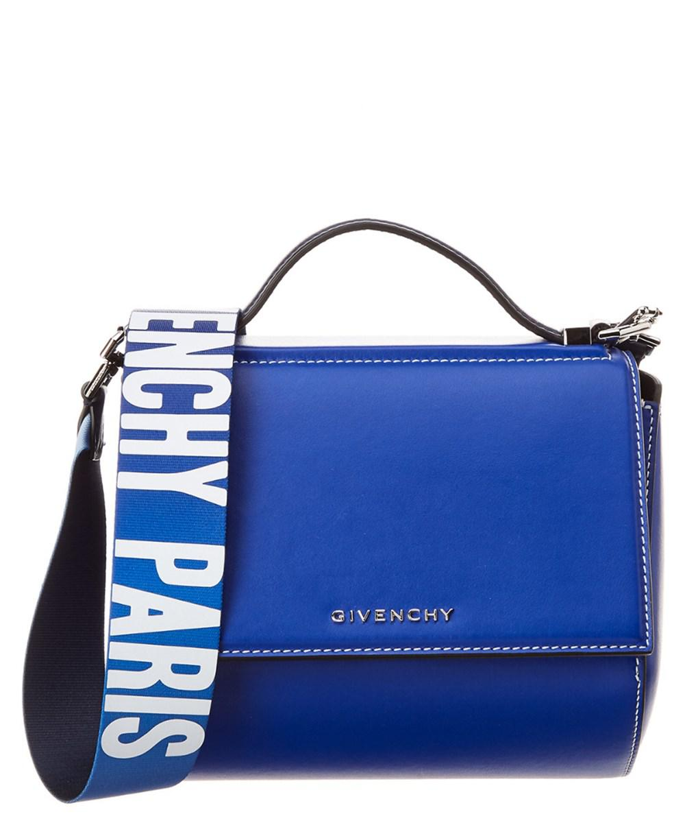 b949cc775e Givenchy - Blue Mini Pandora Box Leather Shoulder Bag - Lyst. View  fullscreen