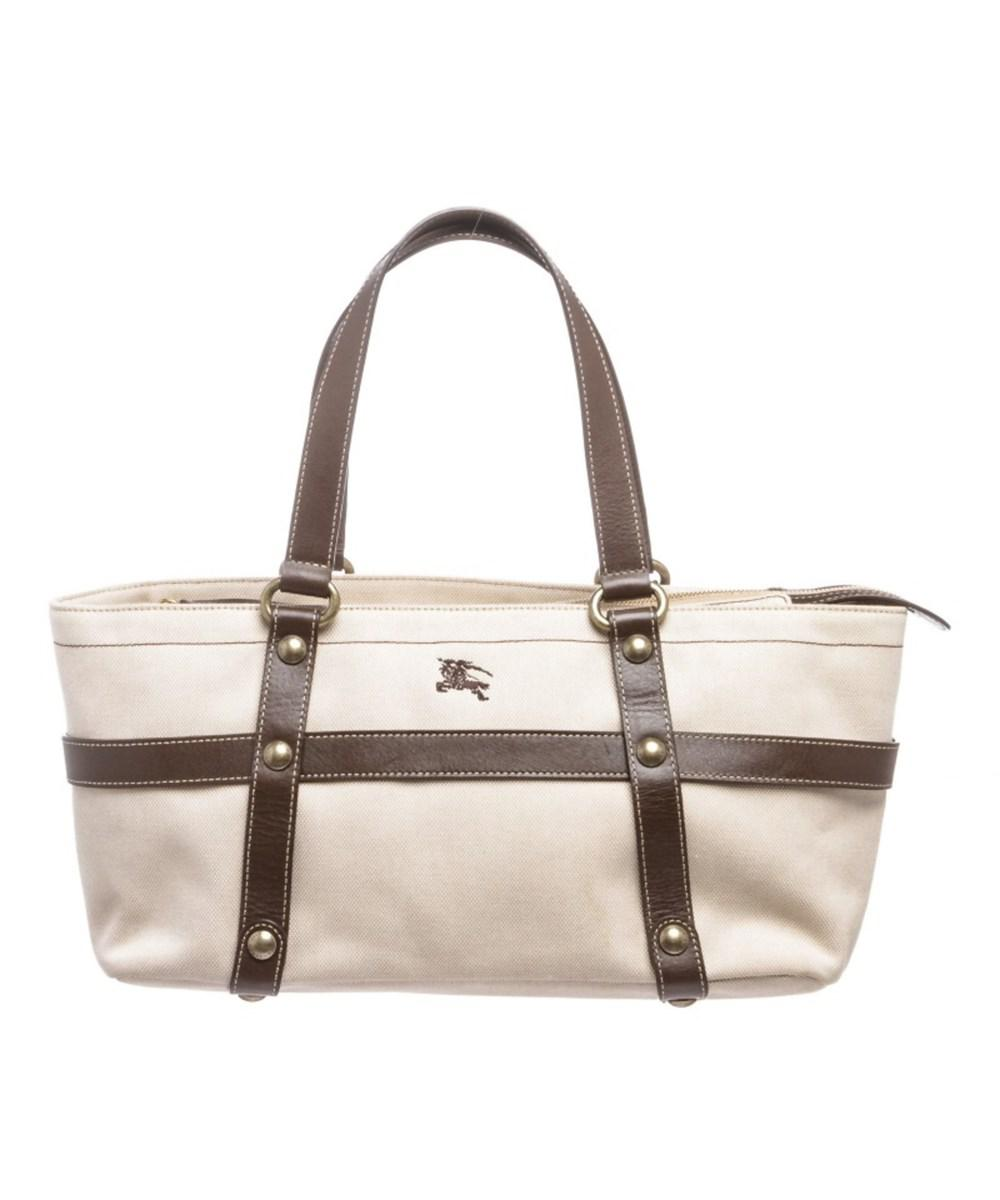 510d4a2229c Burberry. Women's Natural Pre Owned- Beige Brown Canvas Leather Shoulder Bag