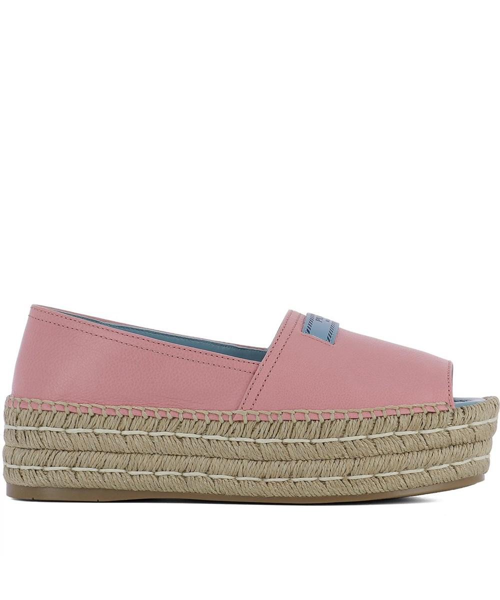 1840ff1c40cf Lyst - Prada Women s Pink Leather Espadrilles in Pink