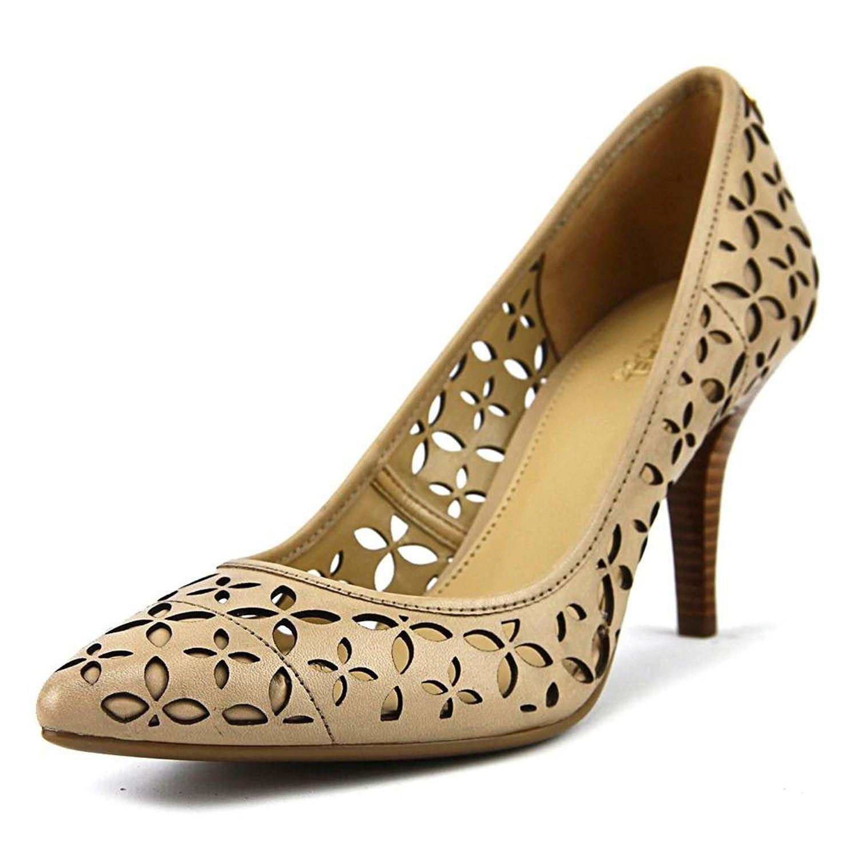 f3b85a6042a Lyst - Michael Michael Kors Womens Flex Mid Pump Leather Pointed Toe ...