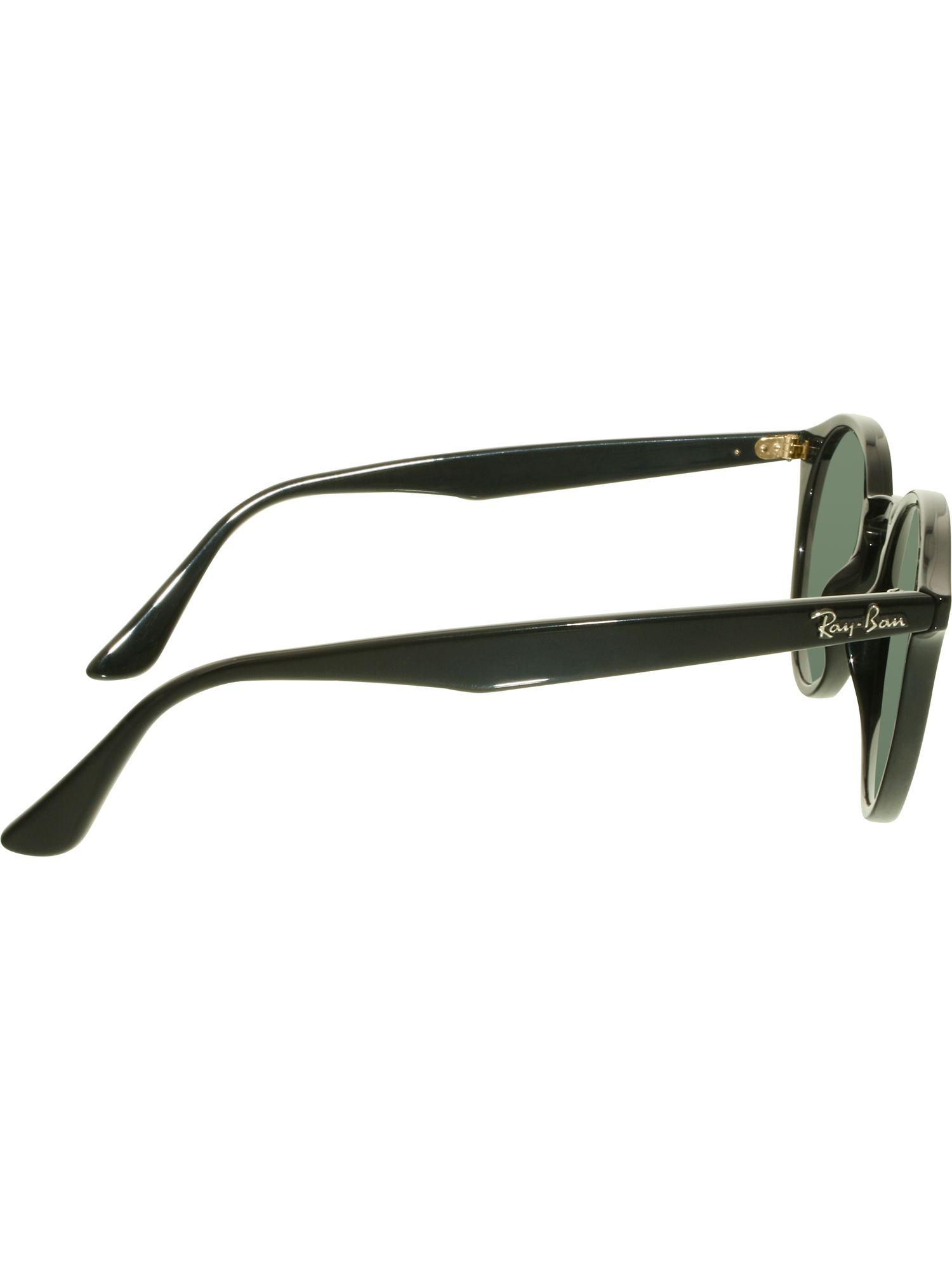 780a98c2053 Lyst - Ray-Ban Women s Rb2180 Rb2180-601 71-49 Black Round Sunglasses in  Black