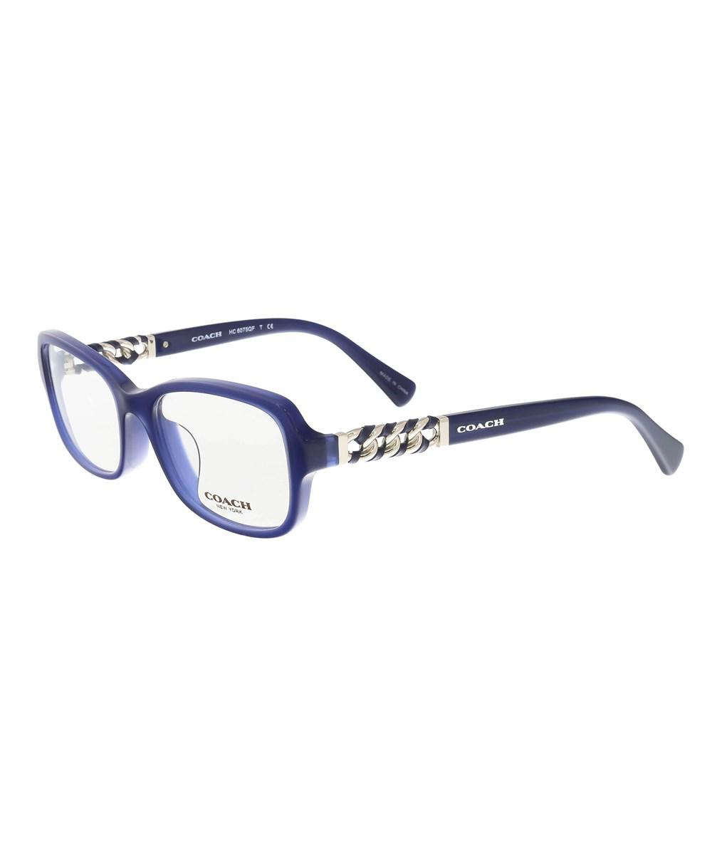 Lyst - Coach Hc6075qf 5358 Navy Square Optical Frames in Blue