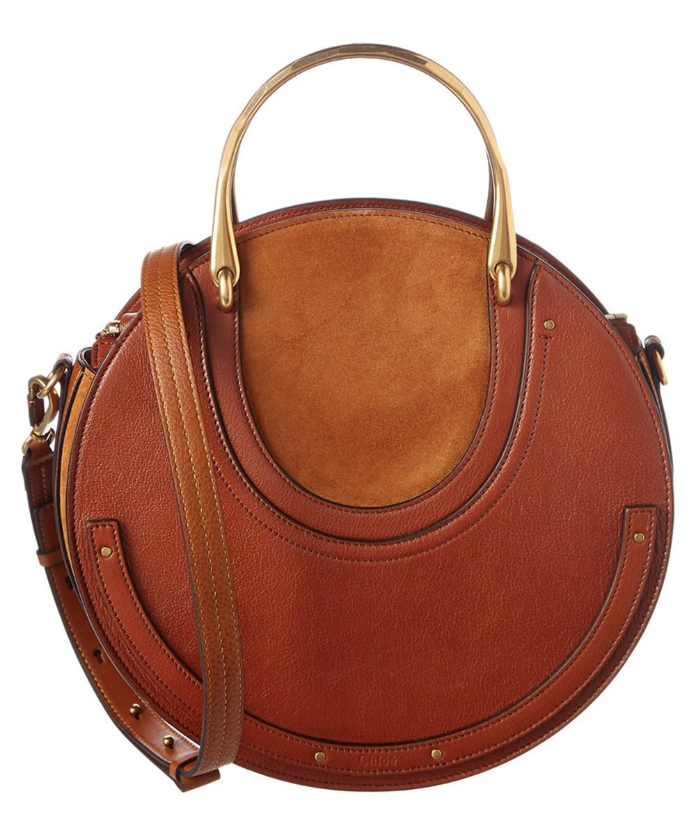 385b537ab079 Lyst - Chloé Pixie Small Leather Shoulder Bag in Brown