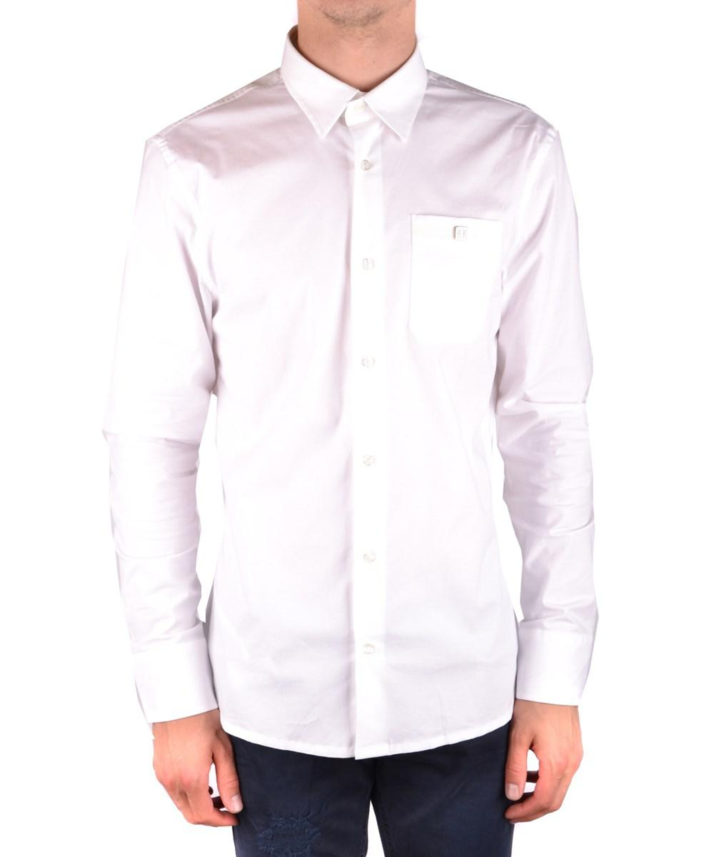 Lyst Bikkembergs Mens Mcbi097064o White Cotton Shirt In White For Men