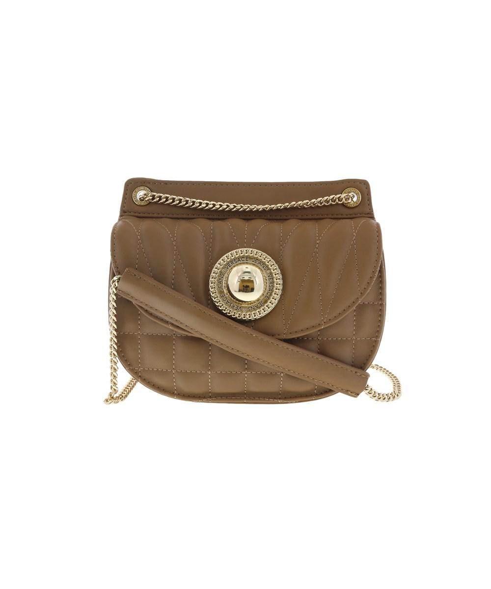 8b673a77a8 Lyst - Versace Ee1vqbby5 E148 Quilted Half Moon Shaped Shoulder Bag ...