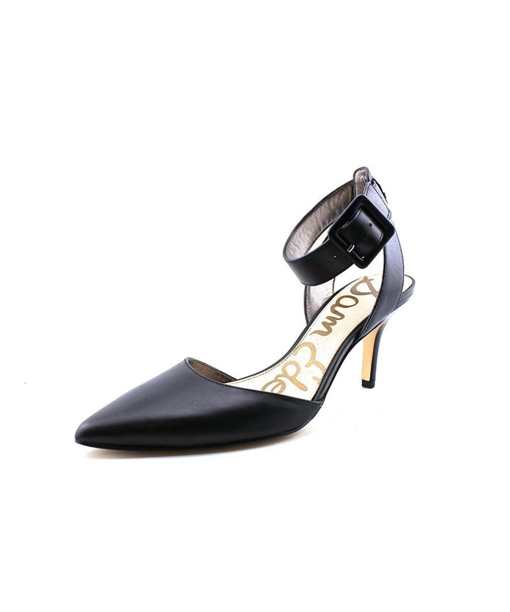 1aff1c6435e4e Sam Edelman Okala Women Pointed Toe Leather Black Heels in Black - Lyst