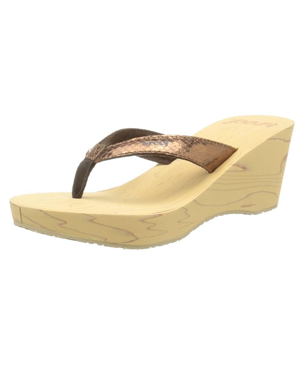 03af0ee9efe2 Reef - Brown Womens Wood Ii Open Toe Casual Platform Sandals - Lyst. View  fullscreen