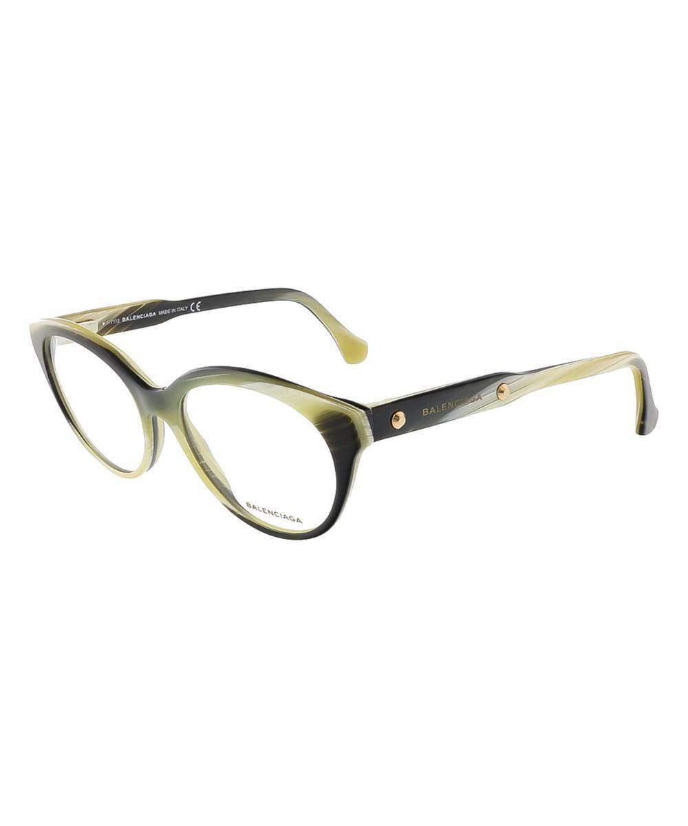 17df6842ef8e Lyst - Balenciaga Ba5001 v 064 Yellow Black Horn Round Prescription ...