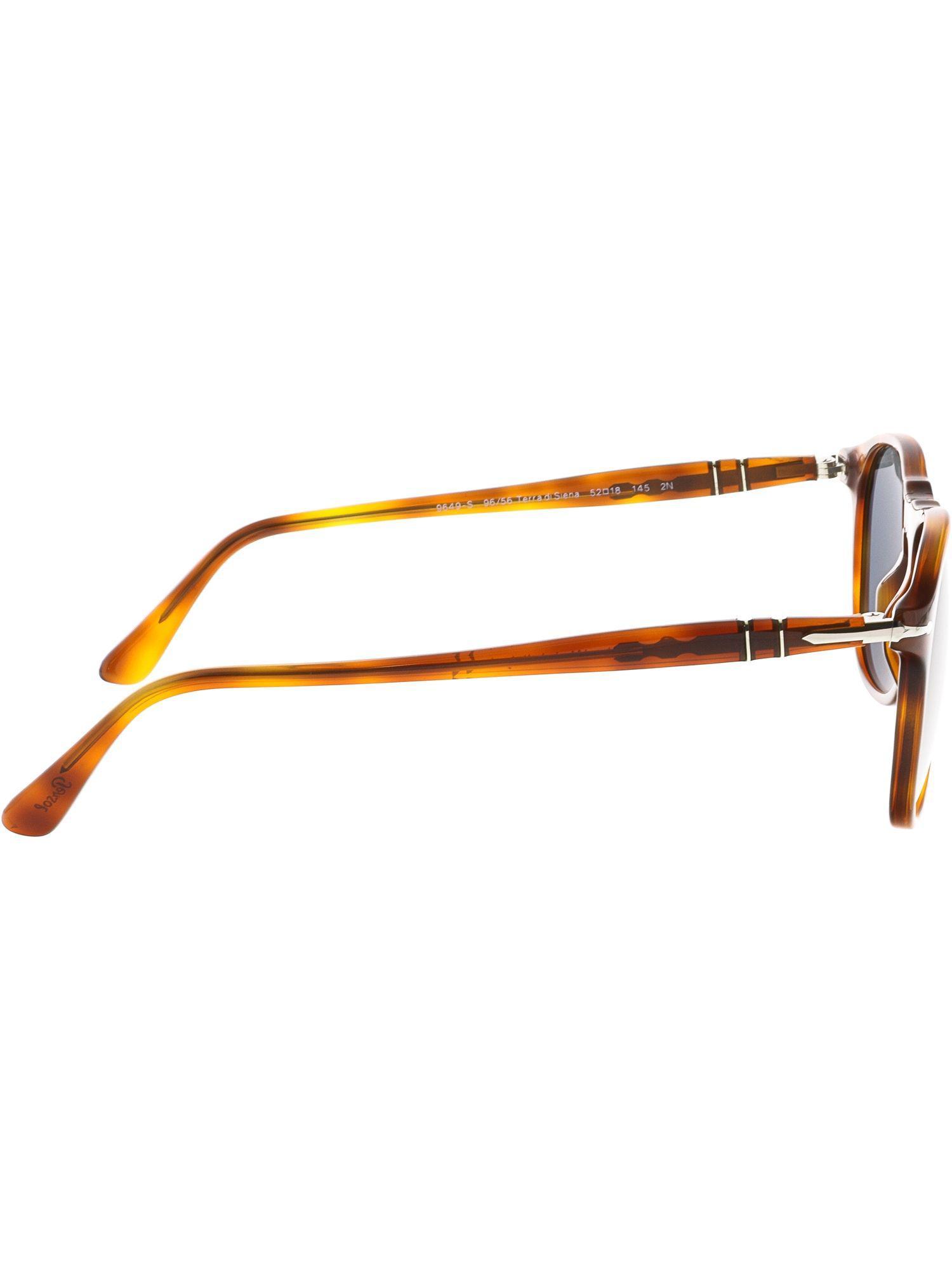 68240dd507 Lyst - Persol Men s Po9649s-96 56-52 Brown Oval Sunglasses in Brown ...