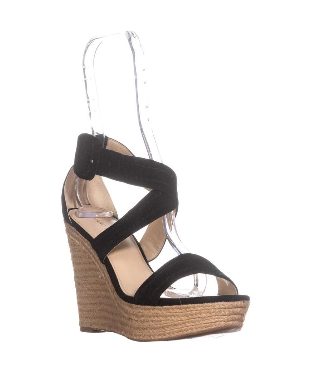 af66695f61a Lyst - Marc Fisher Haely Espadrille Wedge Sandals
