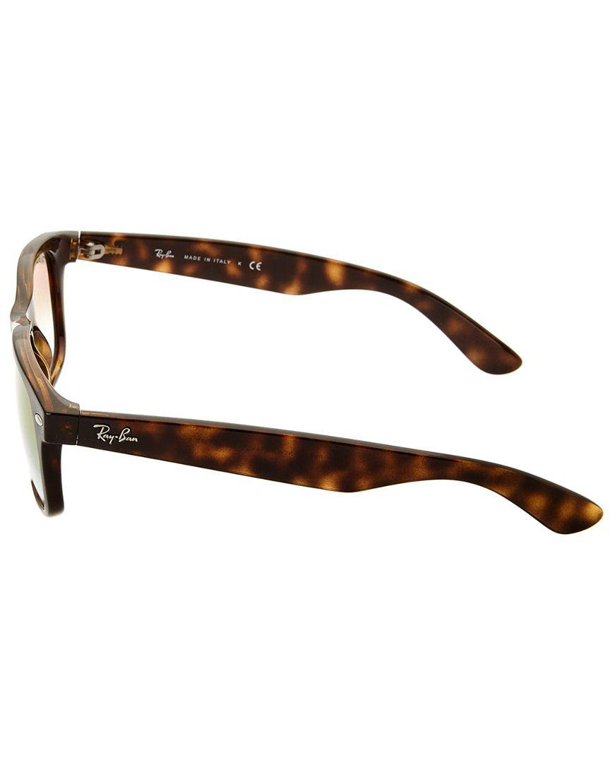 0877fb35e8 Lyst - Ray-Ban Unisex New Wayfarer 55mm Sunglasses in Brown - Save  18.34862385321101%