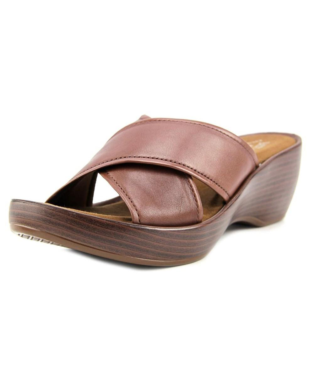 classic for sale Eastland Leather Wedge Sandals - Candace outlet marketable sale supply nUleLOXd5