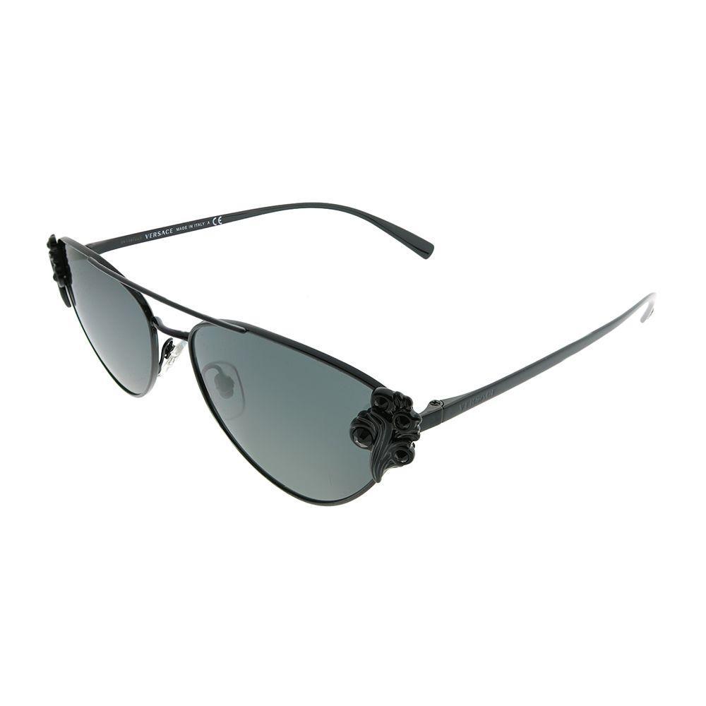 98022dded1 Lyst - Versace Ve 2195b 100987 Black Cat-eye Sunglasses in Black