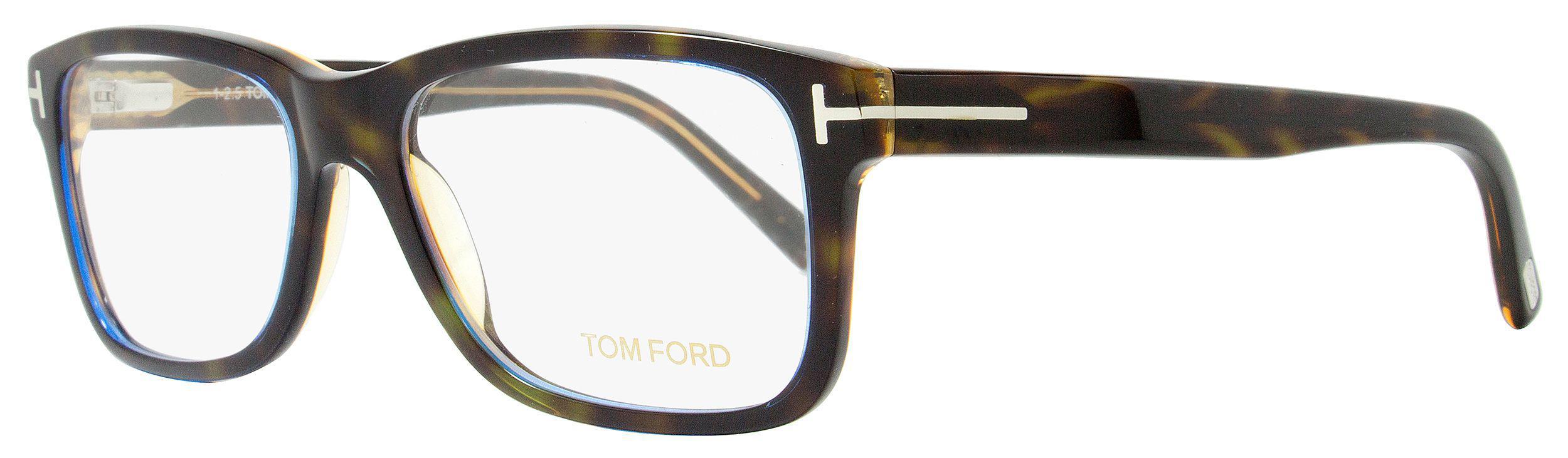0488d9be3c2 Lyst - Tom Ford Rectangular Eyeglasses Tf5163 55a Size  55mm Havana ...