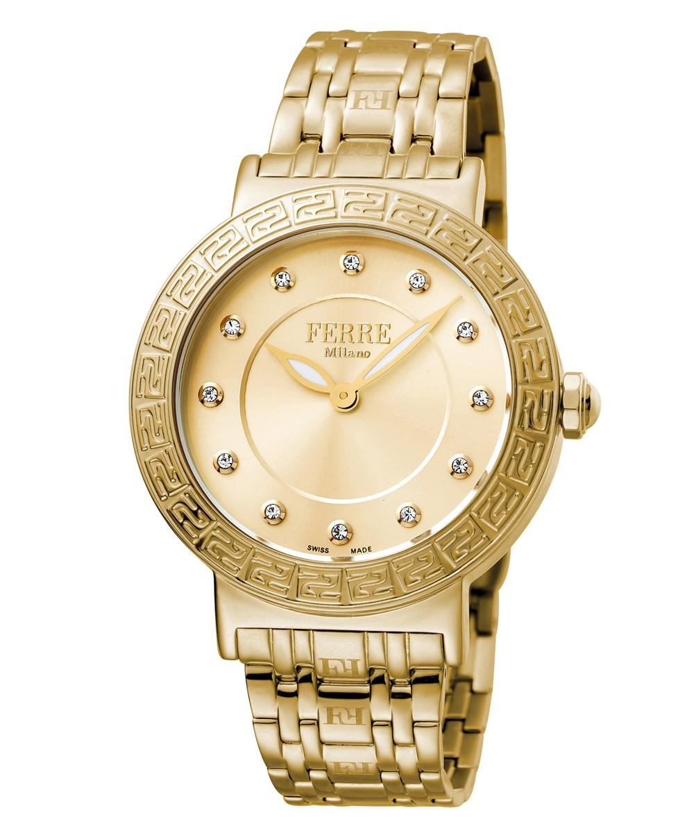 Lyst Ferr Milano Womens Swiss Made Quartz Gold Stainless Fossil Idealist Silver Es4194 Gallery