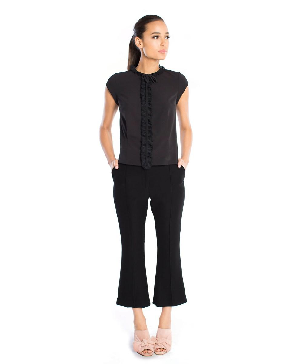 0e14fb638b4ff7 Lyst - Abs by allen schwartz Bianca Cap Sleeve Blouse in Black