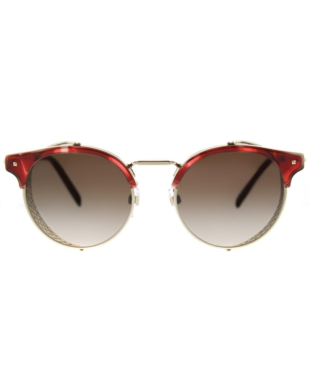 302013 Light Valentino Sunglasses Round in Lyst Metallic 2008z Gold Va wgwPZ