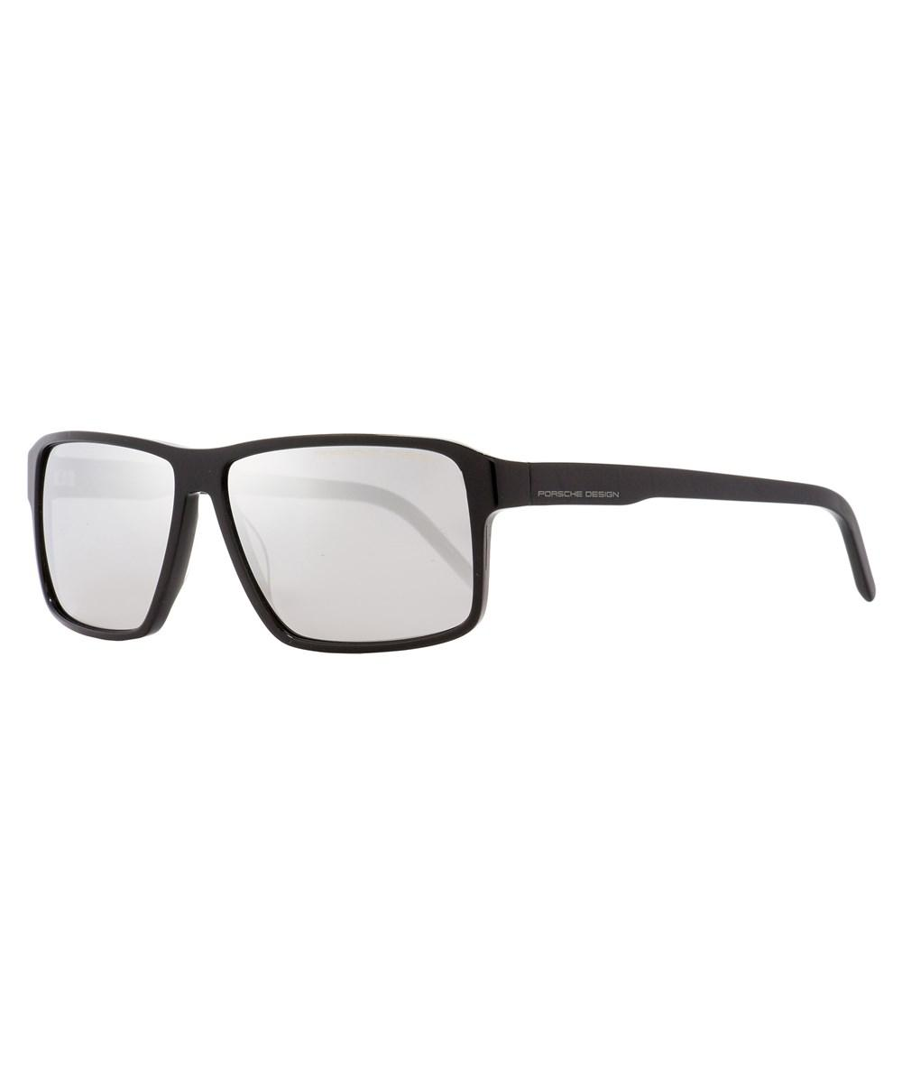 dbce18bcc2 Lyst - Porsche Design Rectangular Sunglasses P8634 A Shiny Black ...