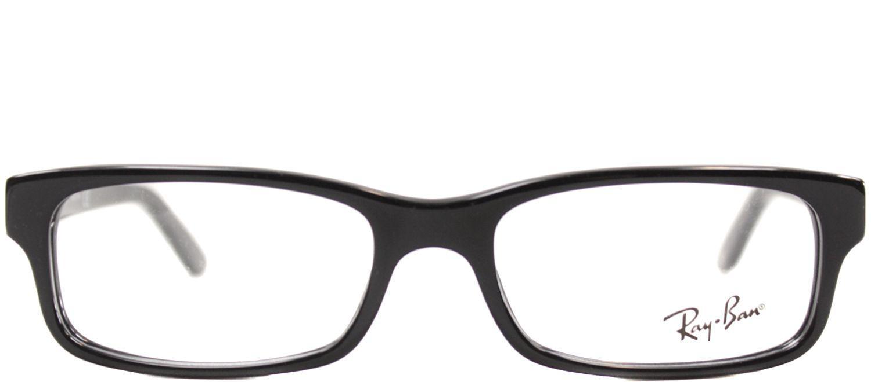 58624a2337d Ray-Ban - Rx5187 2000 50mm Black Rectangular Eyeglasses - Lyst. View  fullscreen
