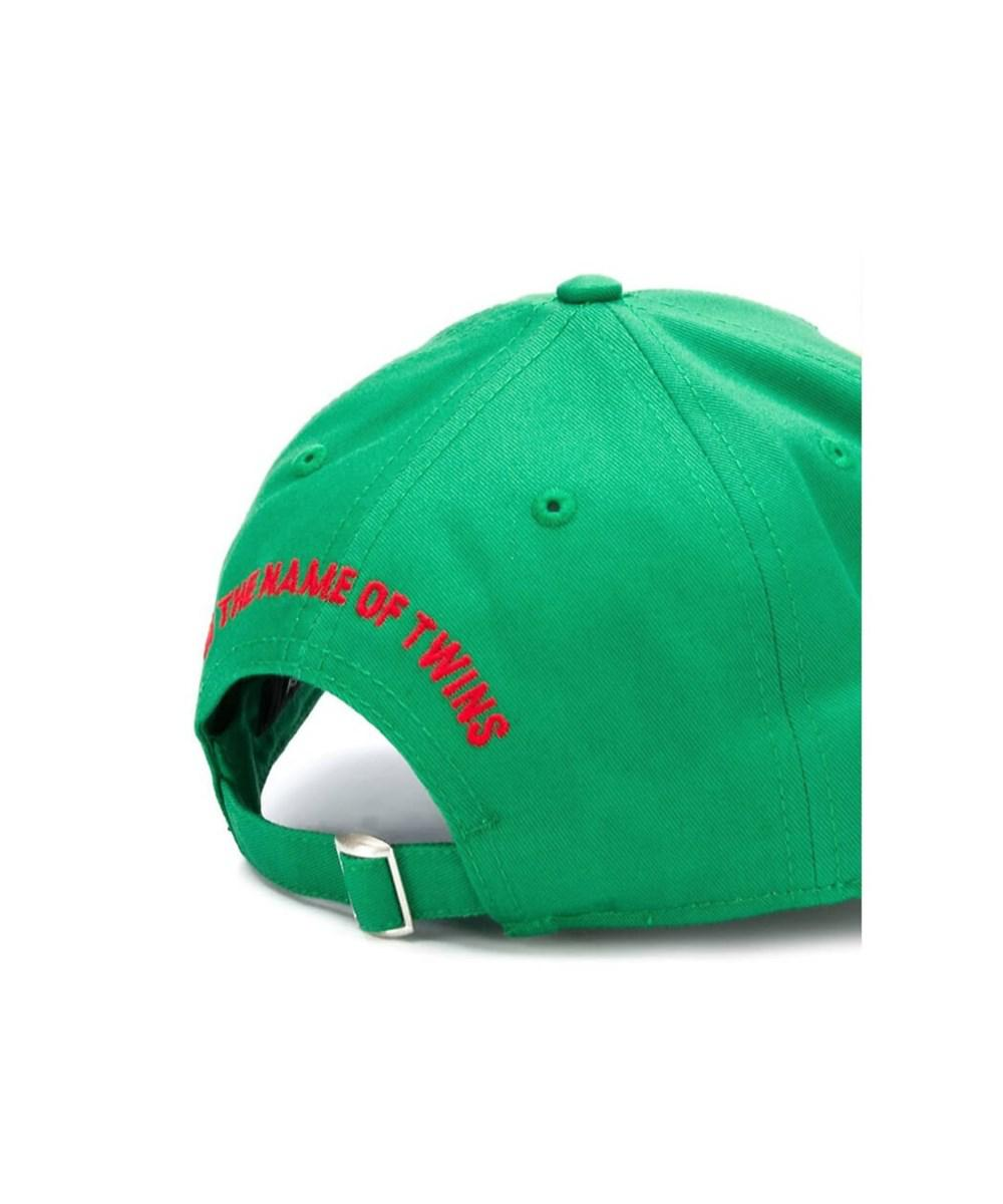 Lyst - Dsquared² Men s Green Cotton Hat in Green for Men 8f4a9274c691