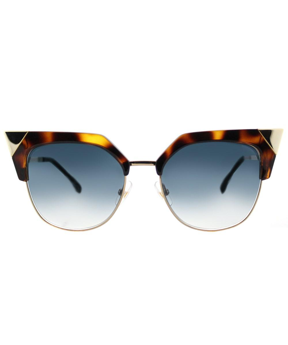 53f285b134 Lyst - Fendi Ff 0149 Tlw Havana Gold Iridia Cat-eye Sunglasses in ...